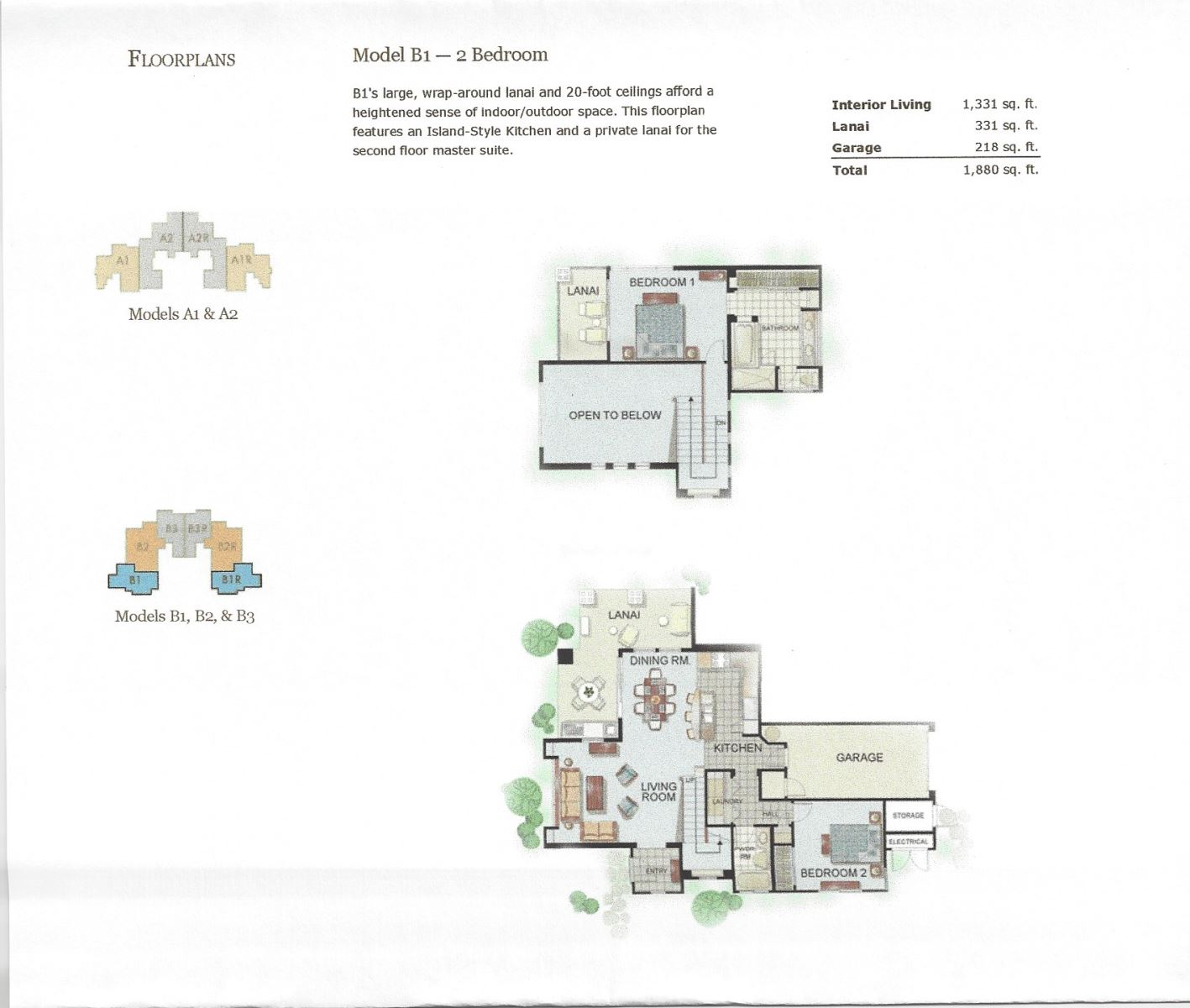 Floor Plan for Kulalani 2001 (2/2)